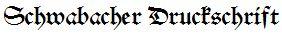 schrift schwabacherdruck