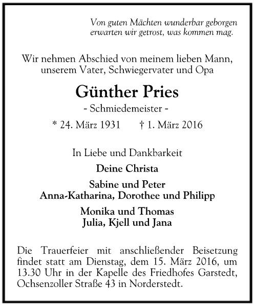 traueranzeige-Günther-pries