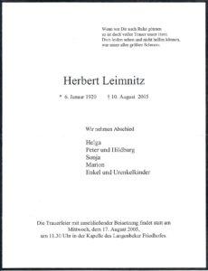 Leimnitz Herbert